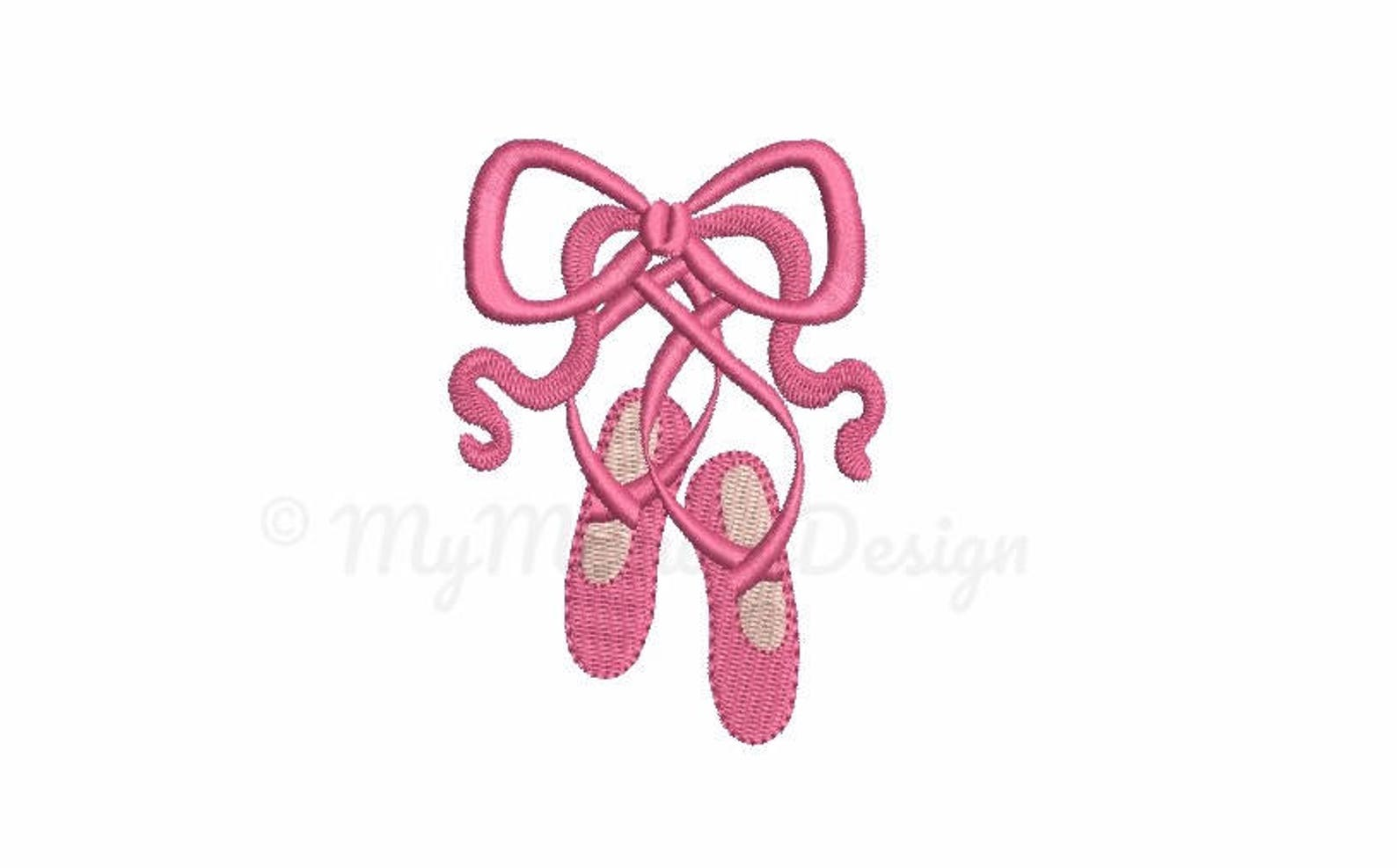 ballet embroidery design - ballet shoes embroidery - machine embroidery - digital file - instant download pes hus jef vip vp3 xx