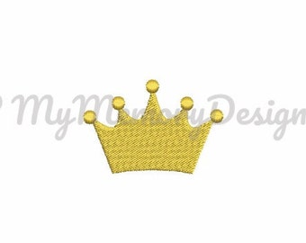 Crown mini fill stitch baby embroidery design pattern file - INSTANT DOWNLOAD - pes - hus - jef - xxx - exp - xxx - dst - vip - vp3 - 4x4