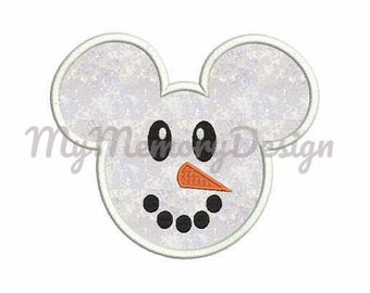 Snowman embroidery design - Christmas applique design - Machine embroidery -INSTANT DOWNLOAD- 4X4 5X7 6X10