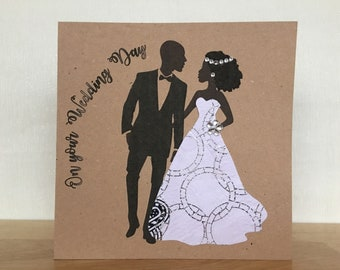 wedding day card african wedding card african fabric cards black wedding cards ankara wedding english or french uk free shipping