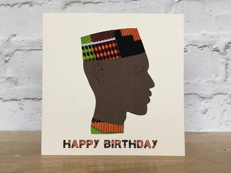 African Birthday Card For Him Man Husband