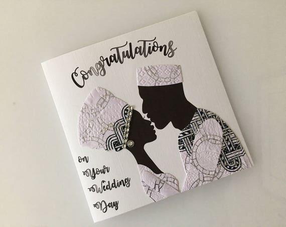 Black Wedding Card African Wedding Cards African Fabric Etsy