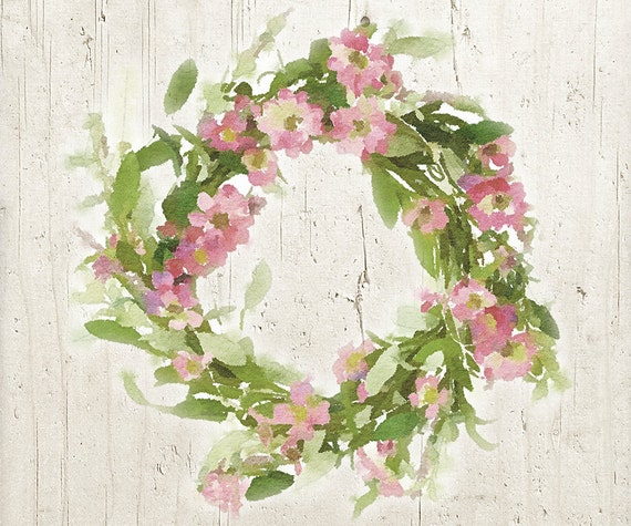 Floral wreath clipart pretty pink flower wreath watercolor etsy floral wreath clipart pretty pink flower wreath watercolor png flower clipart flower wall art 10x10 commercial use ok mightylinksfo