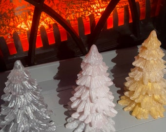 Resin Christmas trees - available in different colours