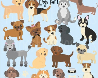 dog clipart etsy rh etsy com clip art dog bone clip art dog paw prints