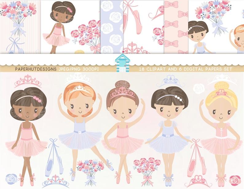 Ballerina Clipart Ballet Clipart Ballerina Clip Art Ballet Etsy