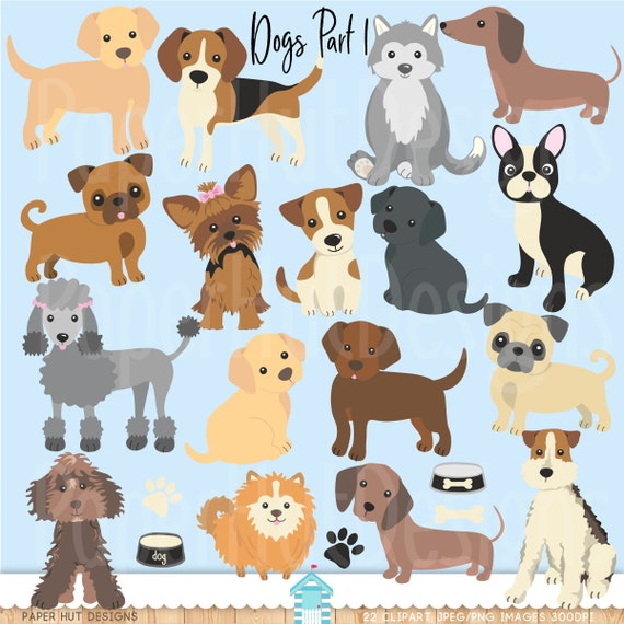Dogs Clipart Dog Clip Art Puppy Etsy
