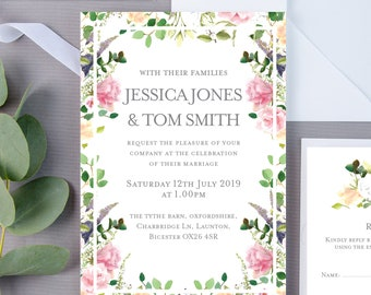 SAMPLE | Wedding Invite Pack | Save the Date | Wedding Invite | RSVP | Wedding Invite Set
