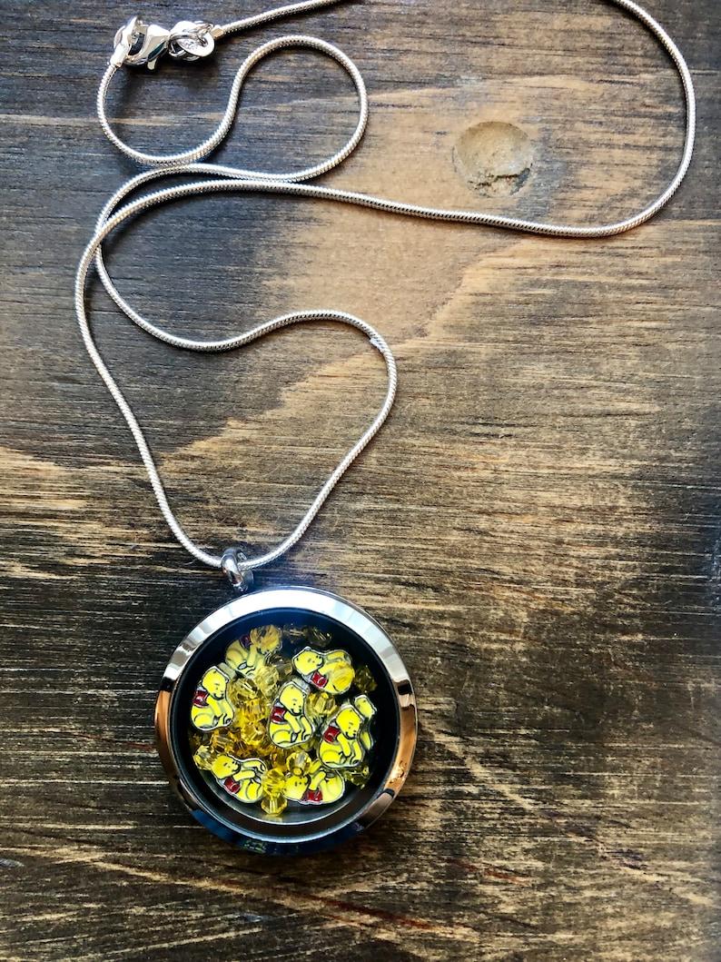 Winnie the Pooh Necklace Floating locket Living Locket | Etsy
