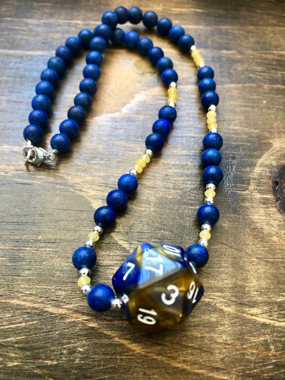 rpg 20 polyhedral Critters DnD Critical Role Necklace d20 Vax/'ildan Gray and Black Jade /& Sterling Silver Clasp Yasha mtg