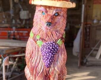 4' Mascot Purple Wolf from Box Elser