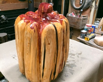 Chainsaw  Carving: Wood Carved Pumpkins