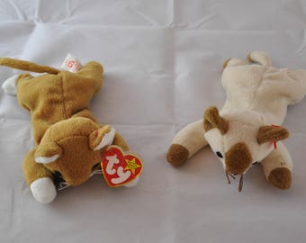 Snip & Nip: Vintage Ty 1994 and 1996 Beanie Baby Cats and Large Beanie Buddy Snip