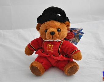 Plush Beefeater Bear Yeomen Wardens Keel Toys Ltd Simply Soft Collection