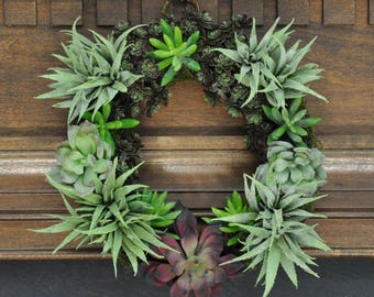 """Say """"Aloe!"""" Succulent Wreath: Beautiful & Festive 10 Inch Wreath For Any Season or Special Occasion"""