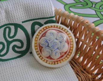 "Celtic Irish Handpainted ""Bees of Thunder"" Goat Milk Soap"