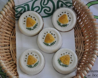 Save the Honeybees Hand Painted Soap - Your Pick of Shea Butter, Cocoa Butter, or Goat Milk & Choose Your Favorite Scent