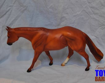 Traditional Breyer Model Horse American Quarter Horse Association Zippo Pine Bar Hall of Fame Quarter Horse Chestnut Stallion #466 1999-2006