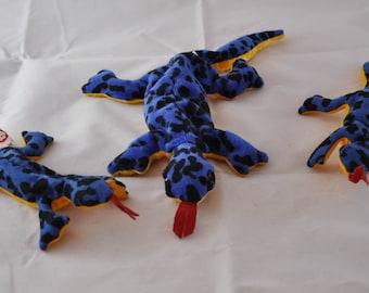Lizzy the Blue Lizard Vintage 1995 Ty Beanie Baby & Teenie Beanie