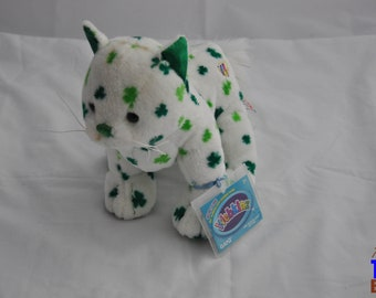Ganz Webkins Irish Cat Plushie With Shamrocks