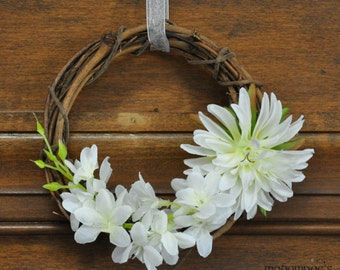 White Tree of Gondor Wreath: White Flowers Tolkien Decor