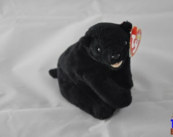 Cinders the Black Bear Vintage 2000 Ty Beanie Baby