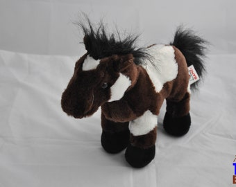 Brown and White Pinto Horse Plushie from Ganz