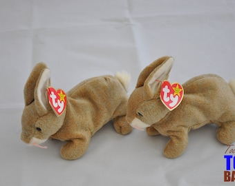 Cute Vintage 1998 Ty Beanie Baby Nibbly the Brown Bunny Rabbit