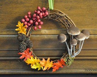 Autumn Mushroom Wreath: Fun, Festive, Unique