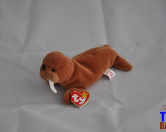 Tusk the Walrus Vintage 1995 Ty Beanie Baby