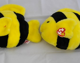 Bubbles the Vintage 1995 Ty Beanie Baby and Beanie Buddy Plush Fish Toy
