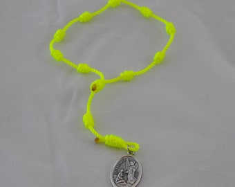 Bright Yellow Knotted Twine St. Raphael Chaplet