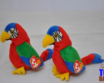 Jabber the Parrot: Vintage 1997 Ty Beanie Baby