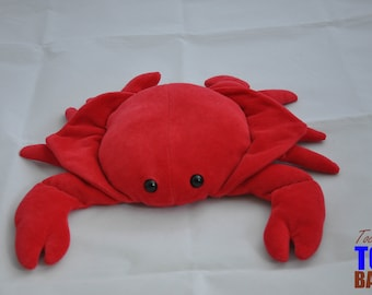 Vintage 1994 The Petting Zoo Red Crab Plushie