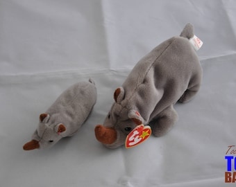 Spike the Rhino: Vintage 1996 Ty Beanie Baby