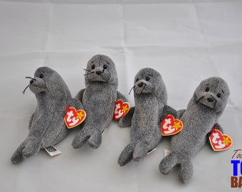 Adorable Vintage 1998 Ty Beanie Baby Slippery the Seal