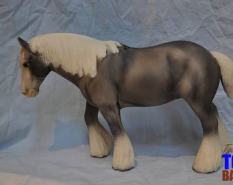 Traditional Breyer Model Horse #1218 Smoke n Mirrors Shire Horse, Shire Mold, Collector's Edition July-December 2003