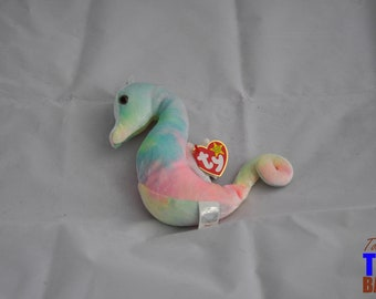 Neon the Seahorse Vintage 1999 Ty Beanie Baby