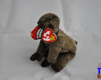 Cheeks the Baboon Vintage 1999 Ty Beanie Baby