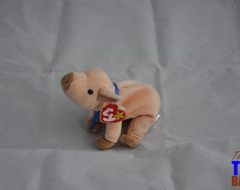 Knuckles the Pig Vintage 1999 Ty Beanie Baby