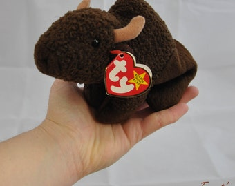 Roam the Vintage 1998 Ty Beanie Baby Bison Buffalo Toy