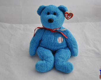 Addison the Bear 2002 Ty Baseball/Softball Beanie Buddy