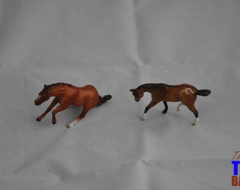 Breyer Stablemates: Chestnut Reiner Mystery Horse Surprise & Mini Quarterflash Dun Appaloosa Connoisseur Series - Buy Together or Separately