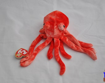 Wiggly the Octopus Vintage 2000 Ty Beanie Baby