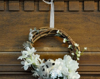J.R.R. Tolkien Roverandom Moon Dog Wreath with White Moon Flowers