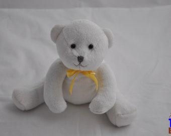 White Teleflora Teddy Bear Plushie