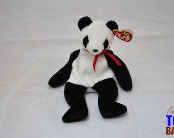 Fortune the Panda Bear: Vintage 1997 Ty Beanie Baby