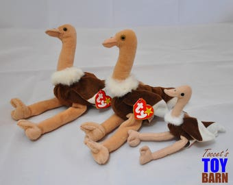 Stretch the Ostrich: Vintage 1997 Ty Beanie Baby Bird