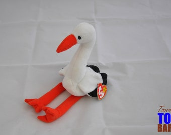 Stilts the Stork Vintage 1998 Ty Beanie Baby Bird Toy