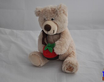 2013 Berry Loved Teddy Bear Plushie With Strawberry From Edible Arrangements